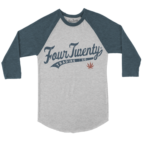 Four Twenty Baseball Logo 2 Raglan