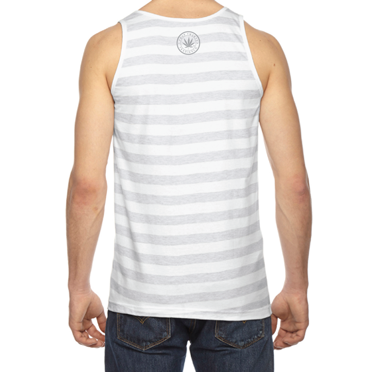 Four Twenty Baseball Logo Men's Stripped Tank