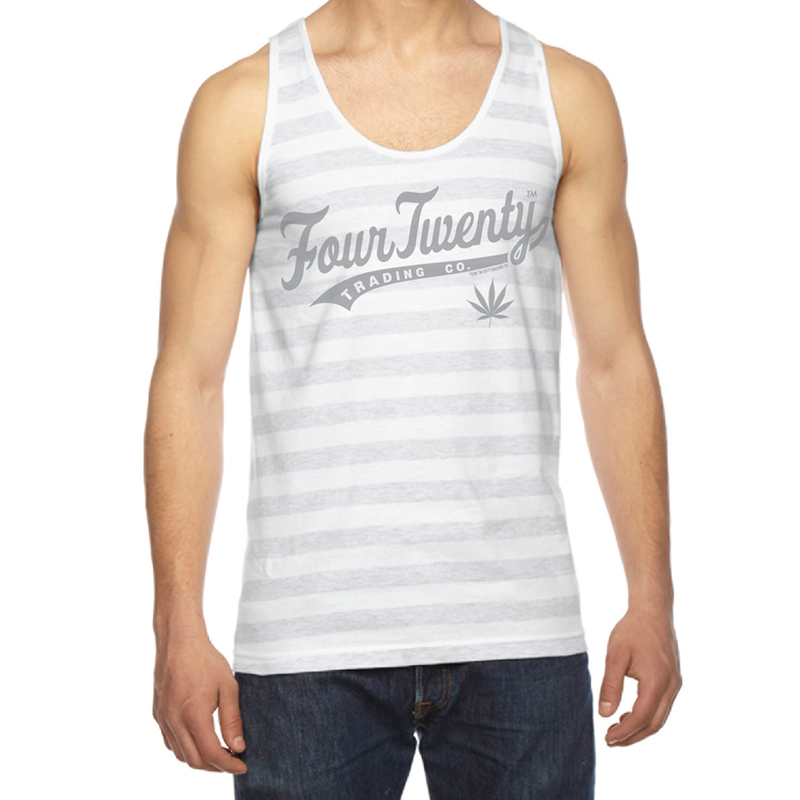 Baseball Logo Men's Stripped Tank