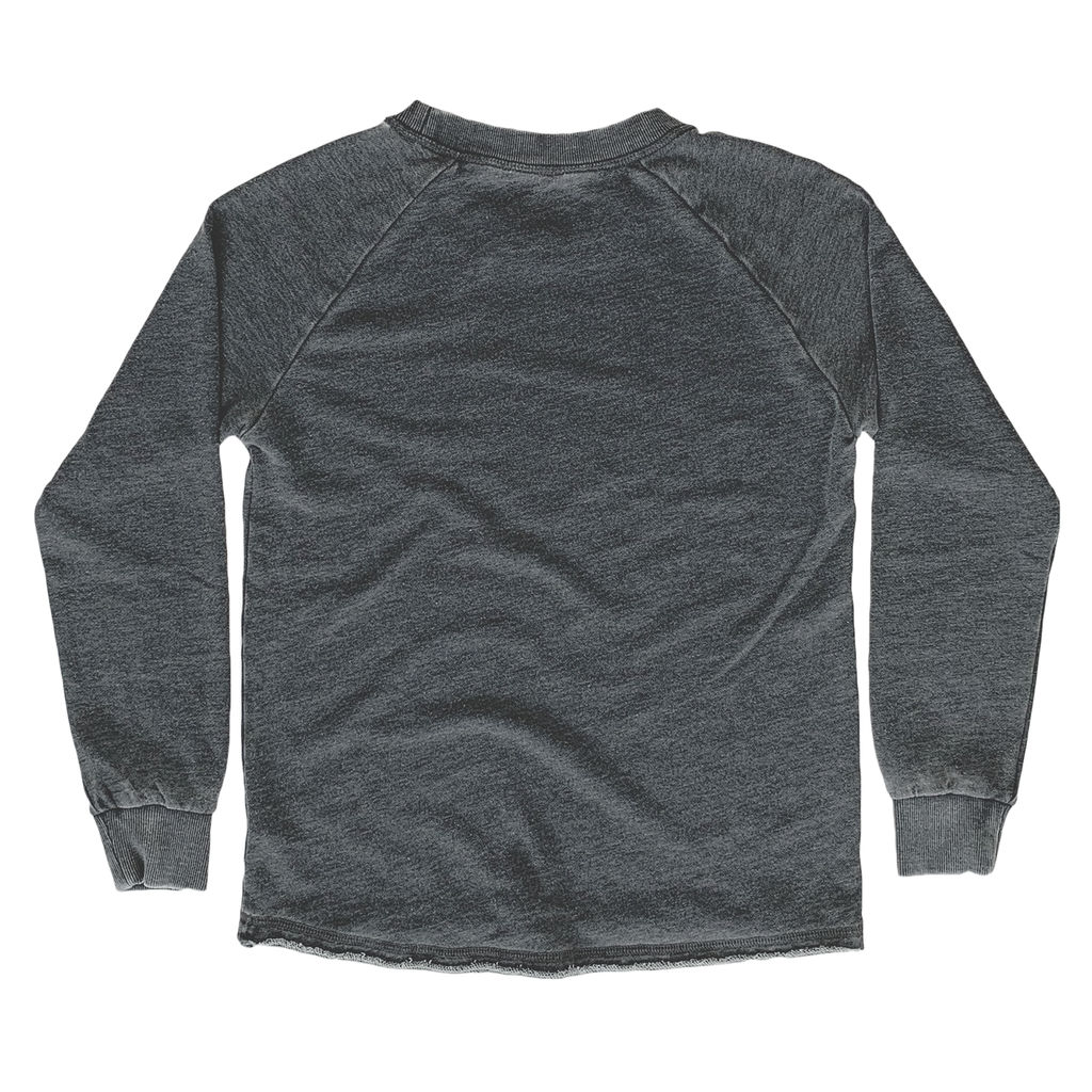 Chill Washed Black French Terry Sweatshirt