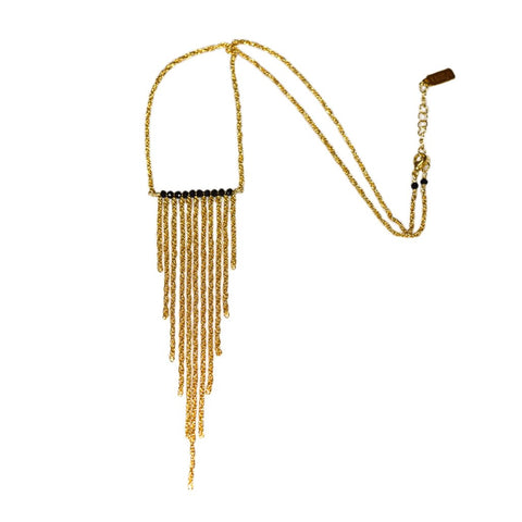 Arrowhead Fringe with Black Spinel