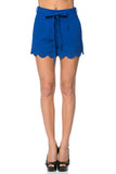 LARGE Blue Bow Scallop Shorts