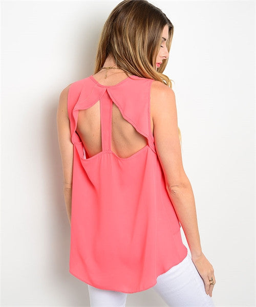 MEDIUM Coral Royal Top