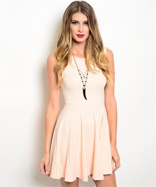 LARGE Peach Ivory Dress