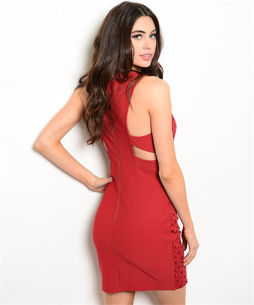 LARGE Red Valentina Dress