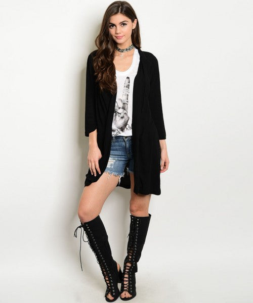 Black Chic Cardigan