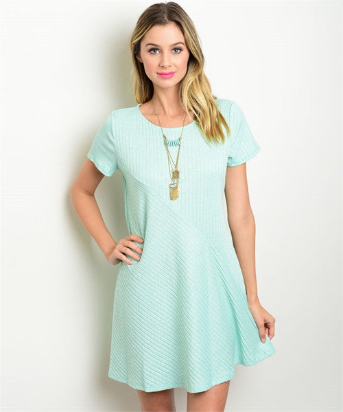 Mint Ribbed Dress