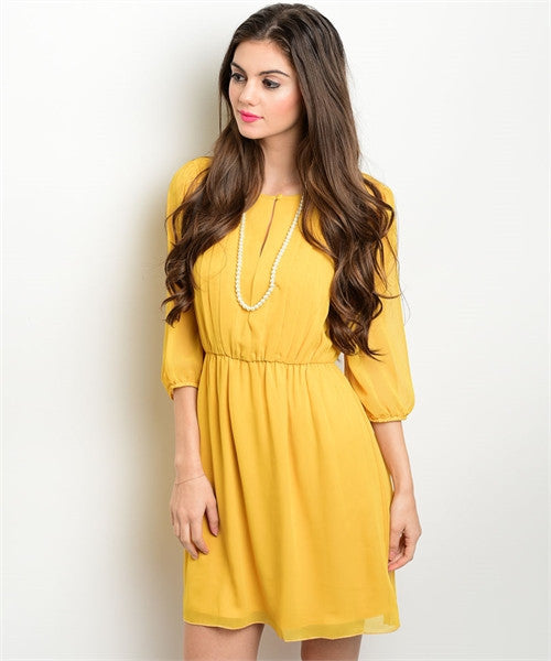 Mustard Missy Dress (Petite sizing)