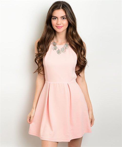 LARGE Light Peach Dress