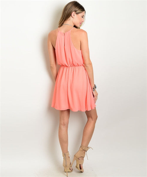 Peach Chloe Dress