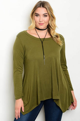 Ivory Olive Plus Size Top