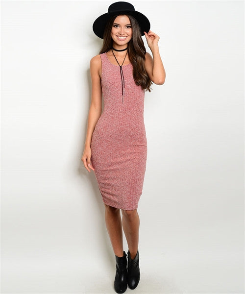 Dusty Rust Abby Midi Dress