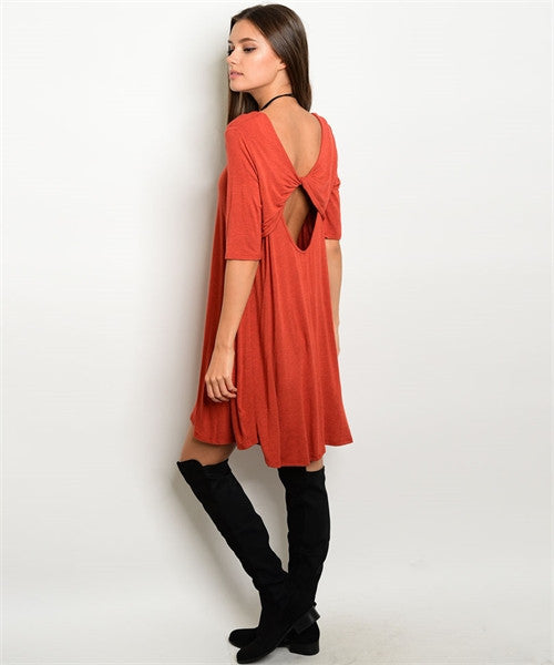 Rust Amie Dress