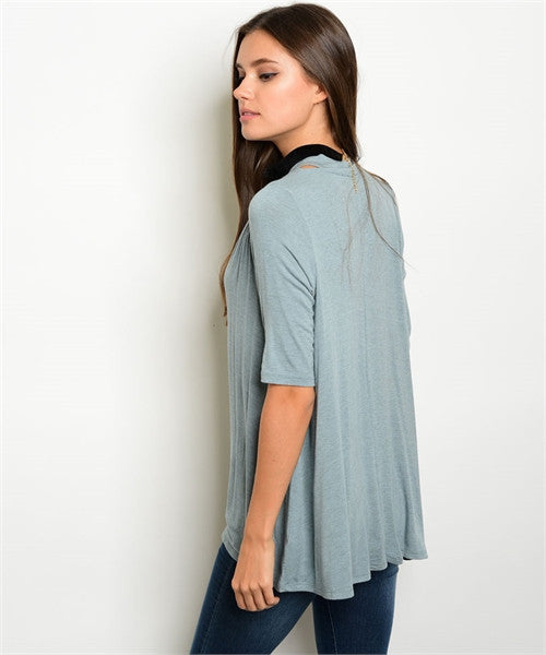 Light Blue Neck Tie Top