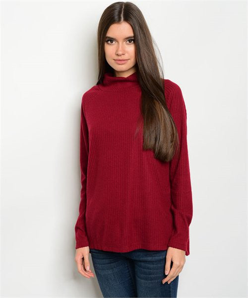 MEDIUM Burgundy Sweater