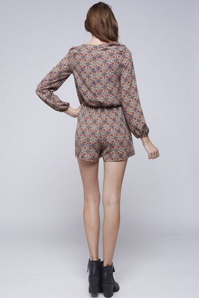 LARGE Sally Romper - Tan