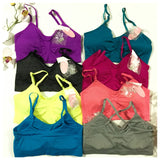 Removable Strap Sports Bras - Assorted Colors