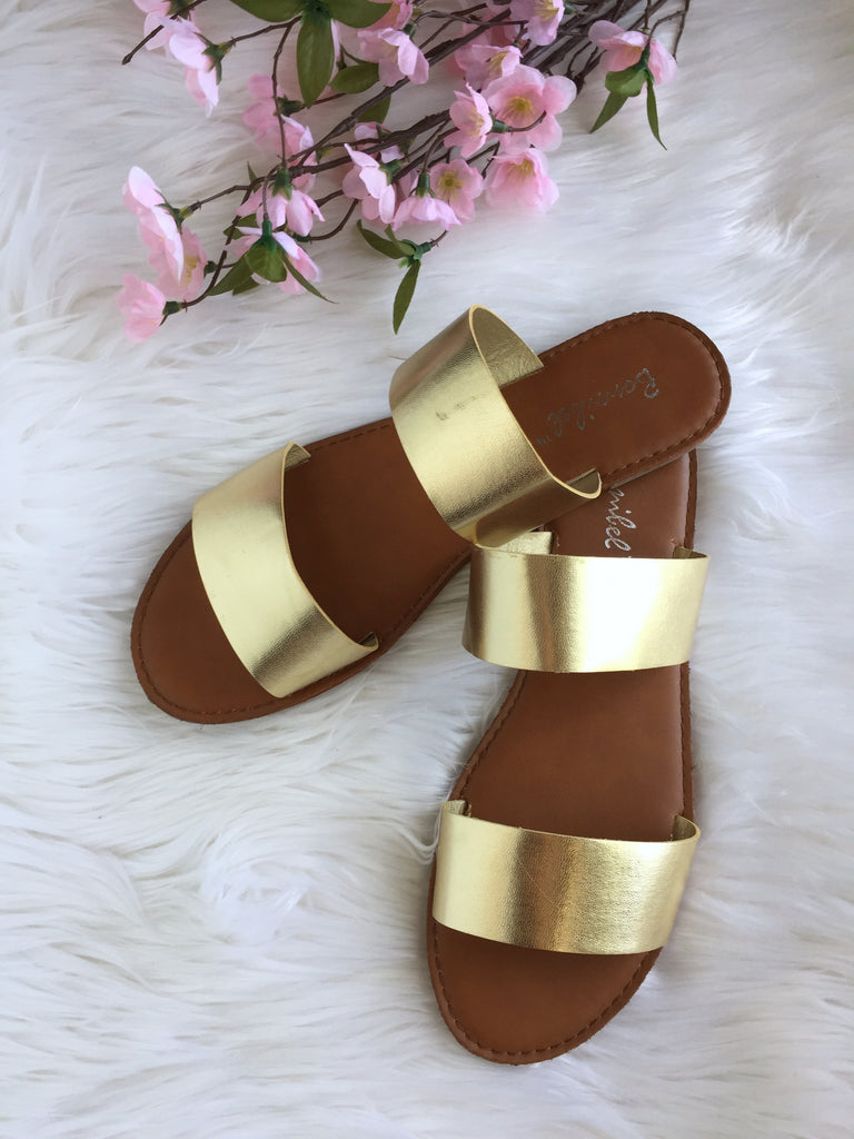 Aya Slider Sandal - Gold