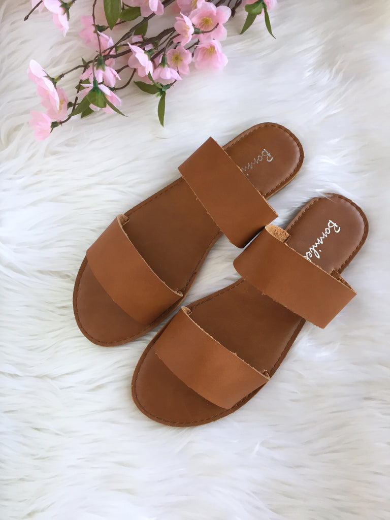 Aya Slider Sandal - Tan