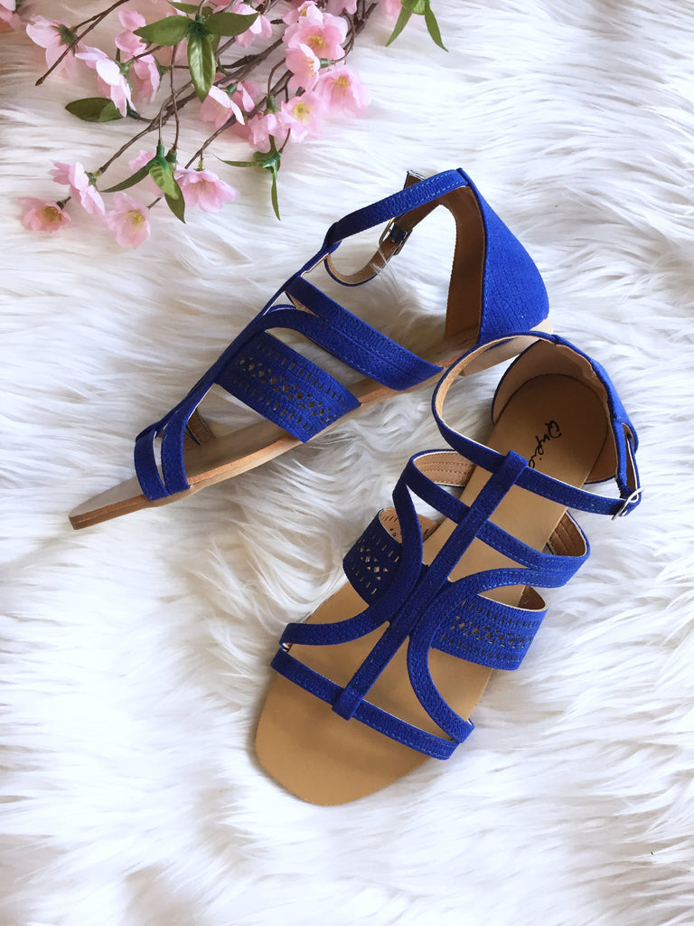 Cobalt Blue Sandals