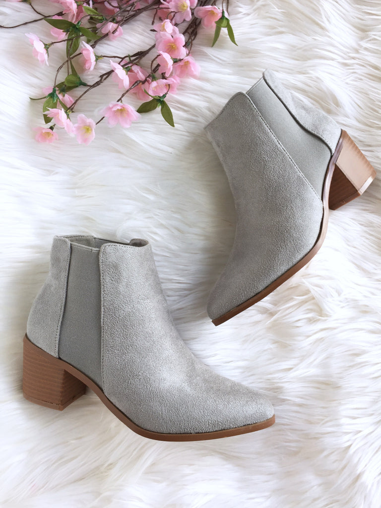 Size 10 - Light Grey Suede Leah Boot