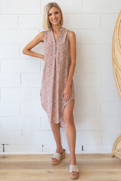 Memphis Dress in Rosé Floral