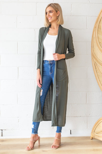 Marlow Duster in Khaki