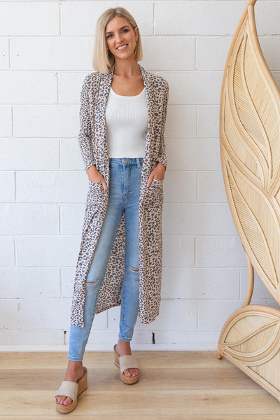 Ziggy Faded Leopard Duster