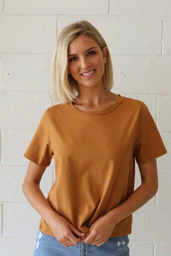 Basic Cotton Tee mustard