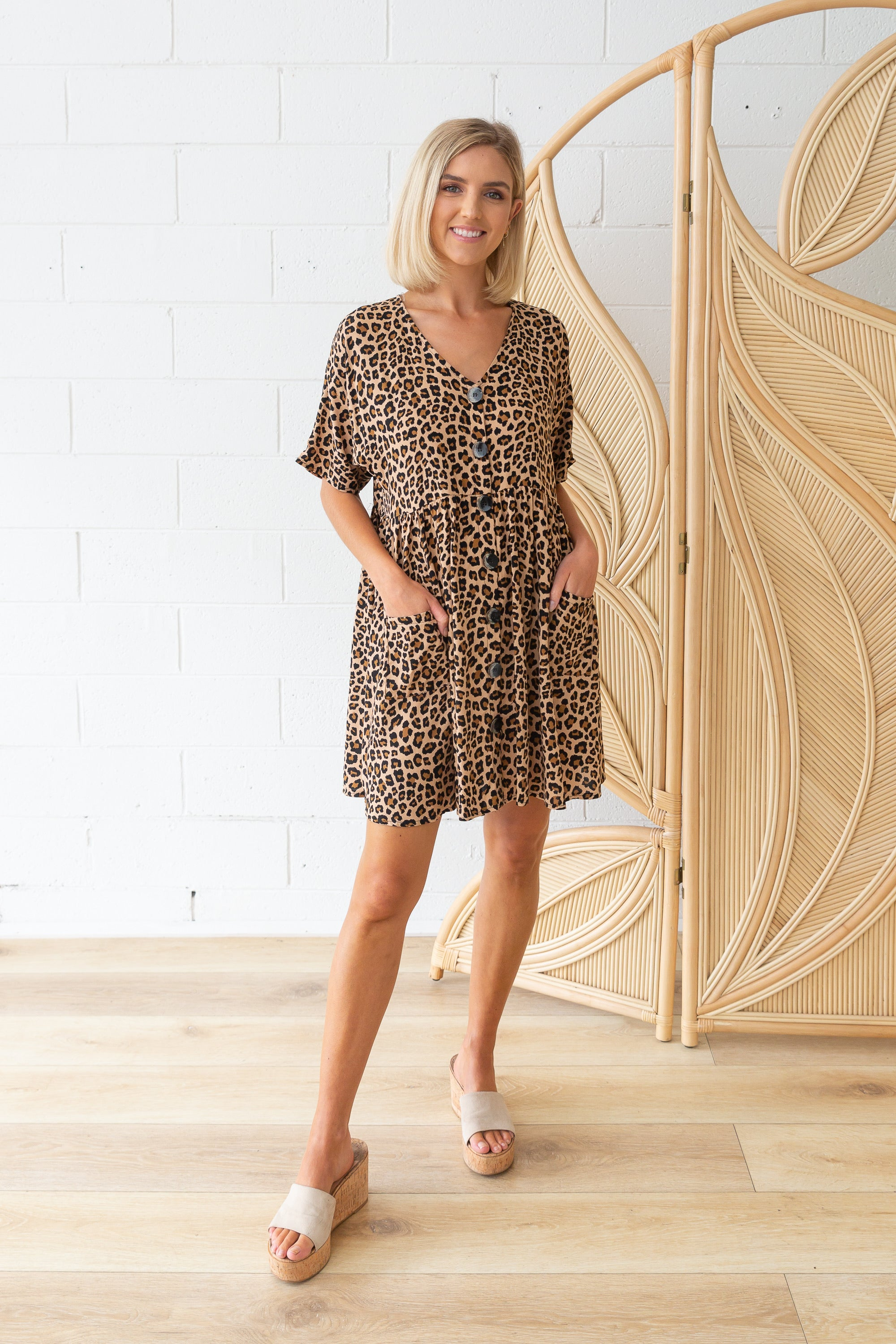 Riley Dress in True Leopard
