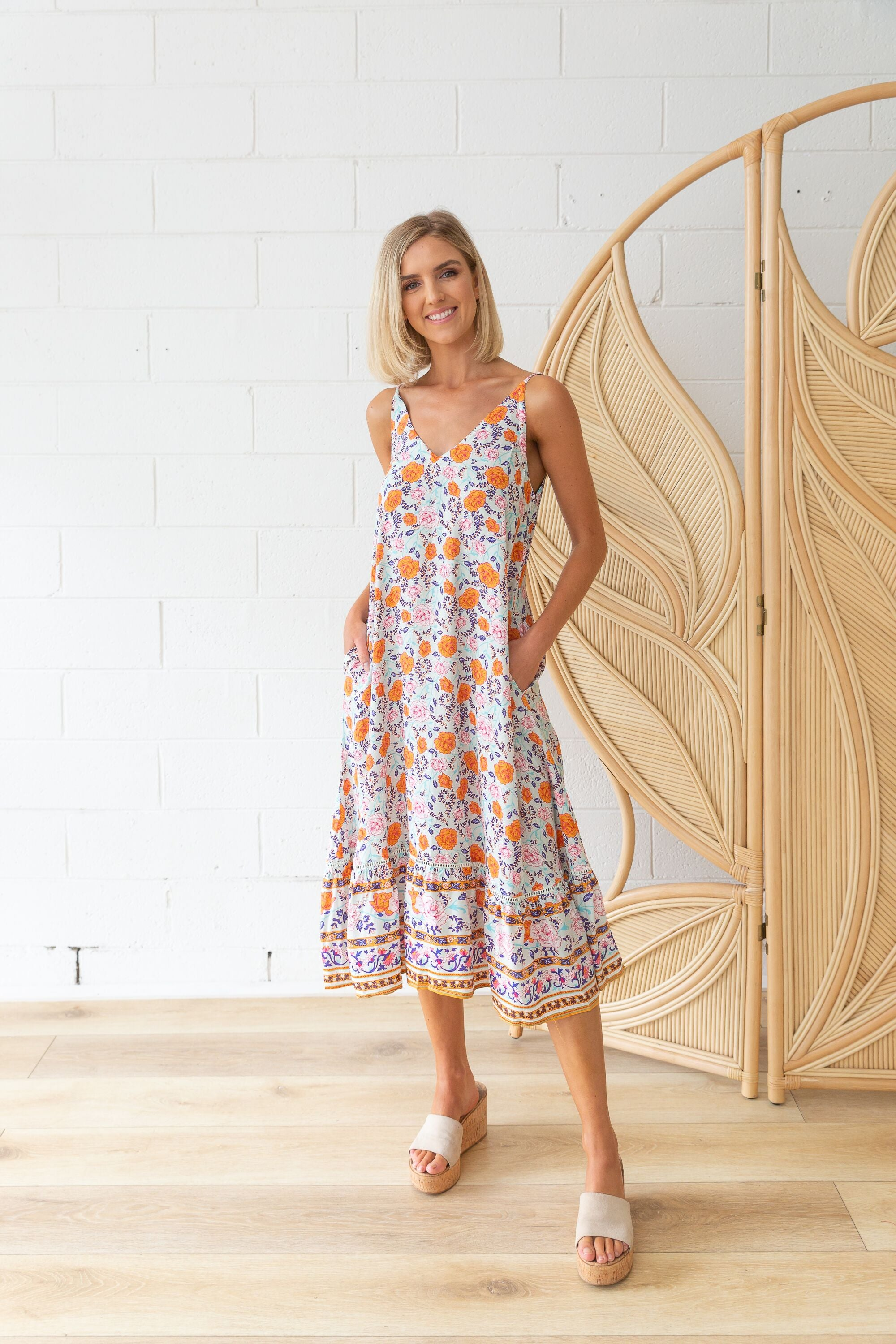 Amalfi Maxi Dress in Multi