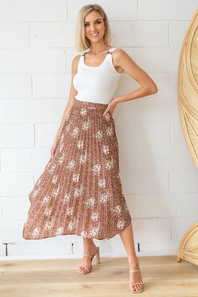 Sofia Skirt in Mocca