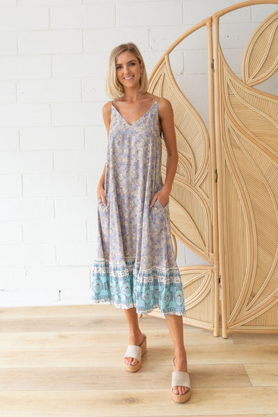 Amalfi Maxi Dress in Blue