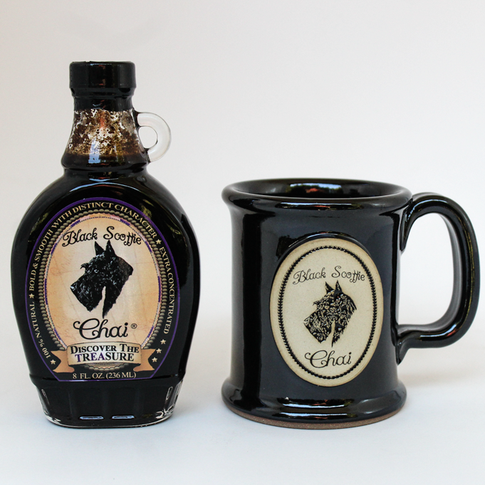 Black Scottie Executive Slim Mug & Chai