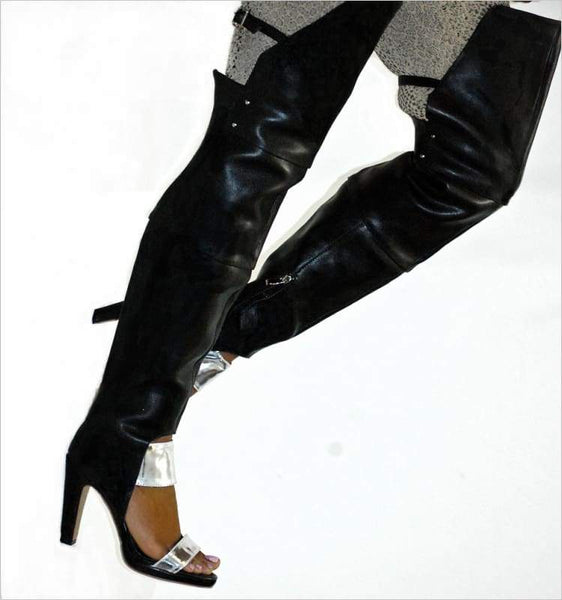 Brook - Thigh boot Zevallos Custom Made zevallosshoes.com boot boots custom leather suede