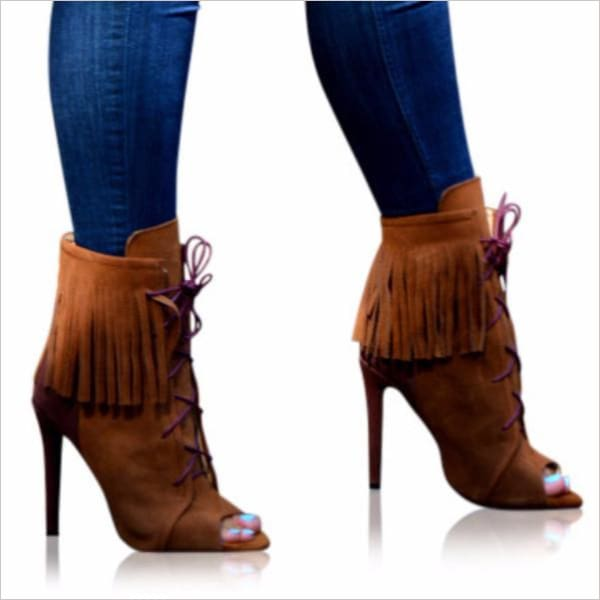 Katie - Boot Zevallos Custom Made zevallosshoes.com 2016 booties boots fall peeptoe