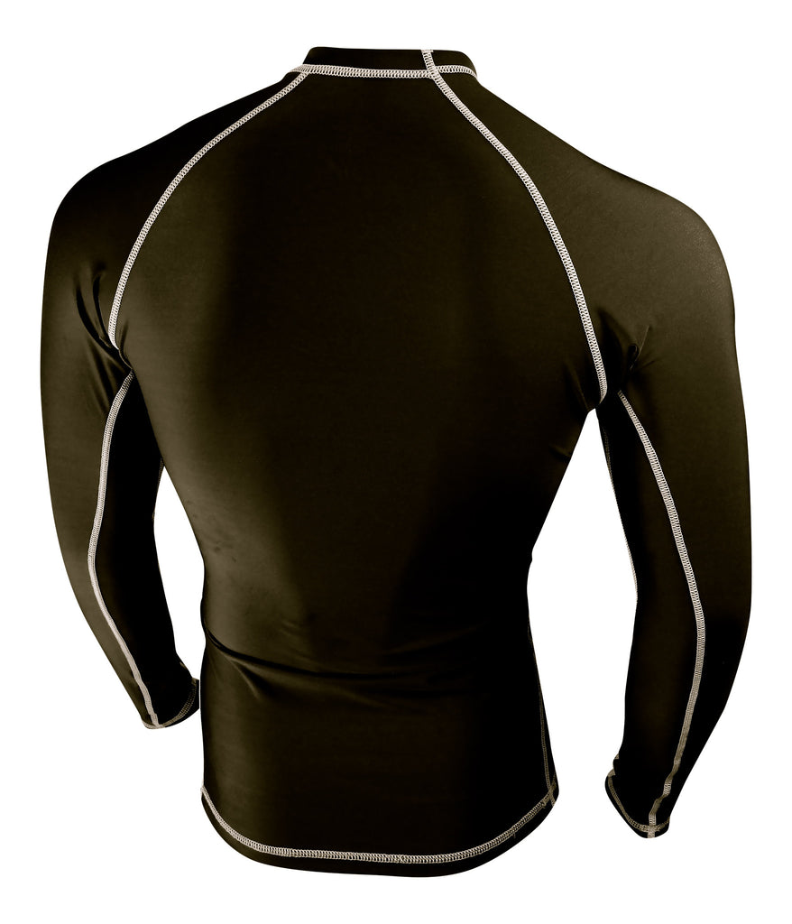 Black With White Stitching Rash Guard