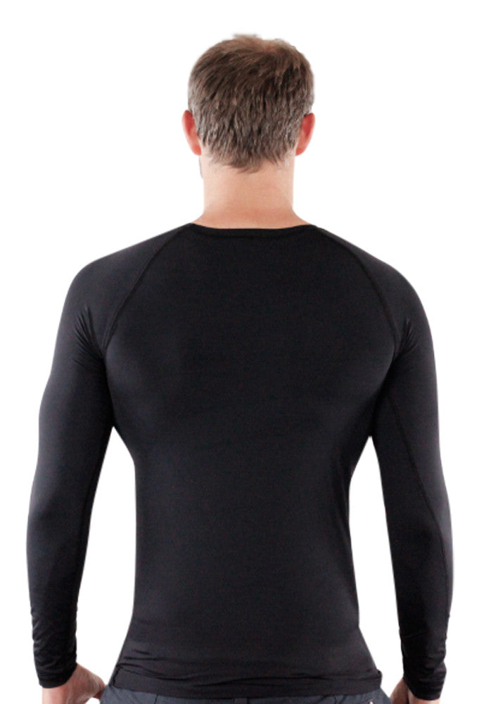 Black Mens Rash Guard