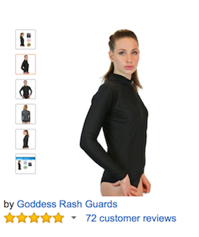 Black Womens Rash Guards