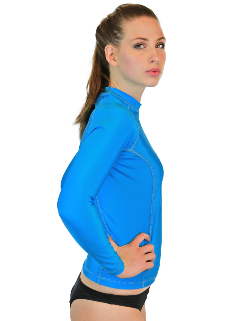 Turquiose Womens Rash Guards