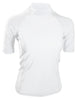 White Short Sleeve Rash Guard Compression Shirt For Women