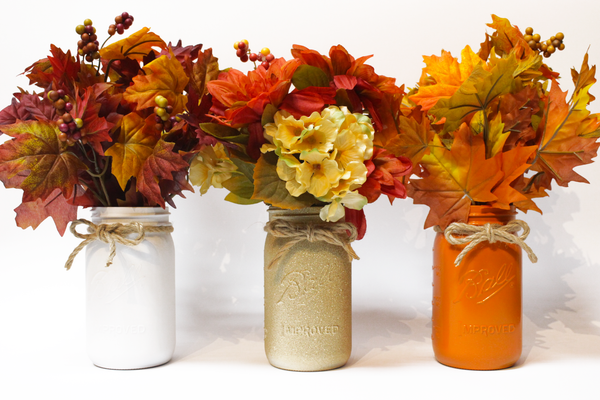 Fall Mason Jar Centerpieces