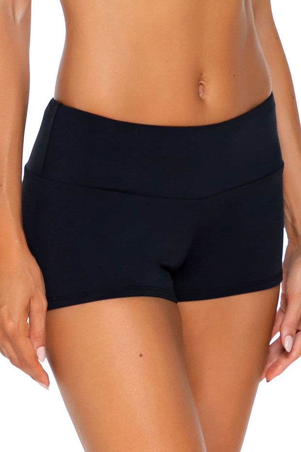 Sunsets Black Seascape Swim Short