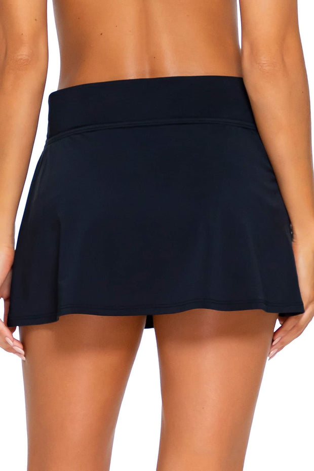Sunsets Black Summer Lovin Swim Skirt