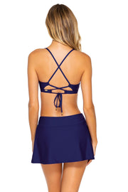 Sunsets Indigo Sporty Swim Skirt