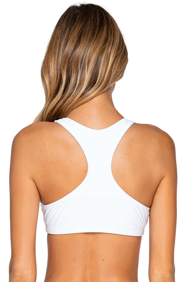 Sunsets White Scuba Top