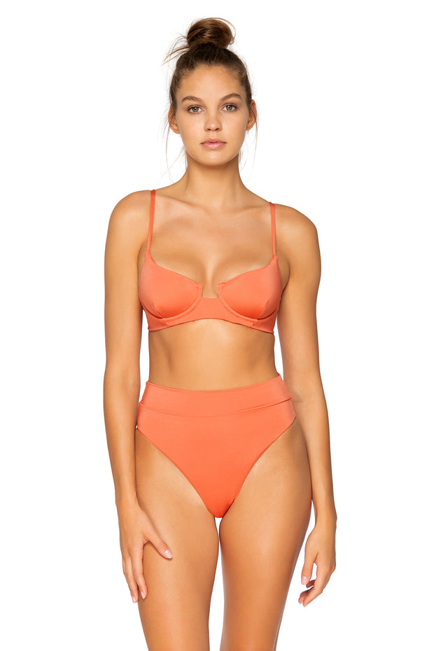 B Swim Burnt Umber Aruba Top
