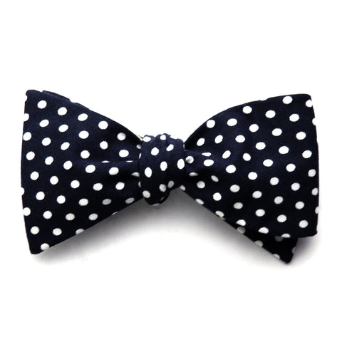 Alfred - Polka Dot Bow Tie (Navy/Mint)