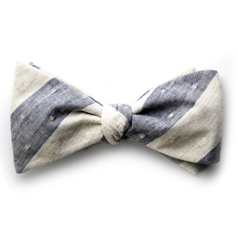 Anton - Large Stripes Bow Tie (Black/Gray)