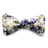 Bailey - Floral Gingham Bow Tie (Cream/Blue)
